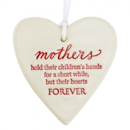 Paper Boat Press Ceramic Christmas Ornament - Heart Mothers