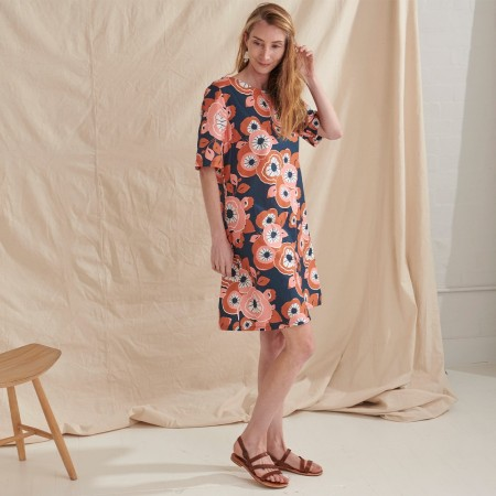 Nya Hemp & Organic Cotton Swing Dress - Summertime