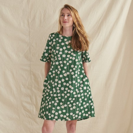 Nya Hemp & Organic Cotton Swing Dress - Billy Buttons