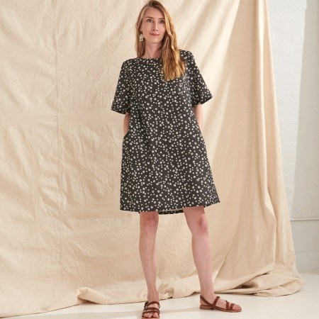 Nya Hemp & Organic Cotton Swing Dress - Rockpool