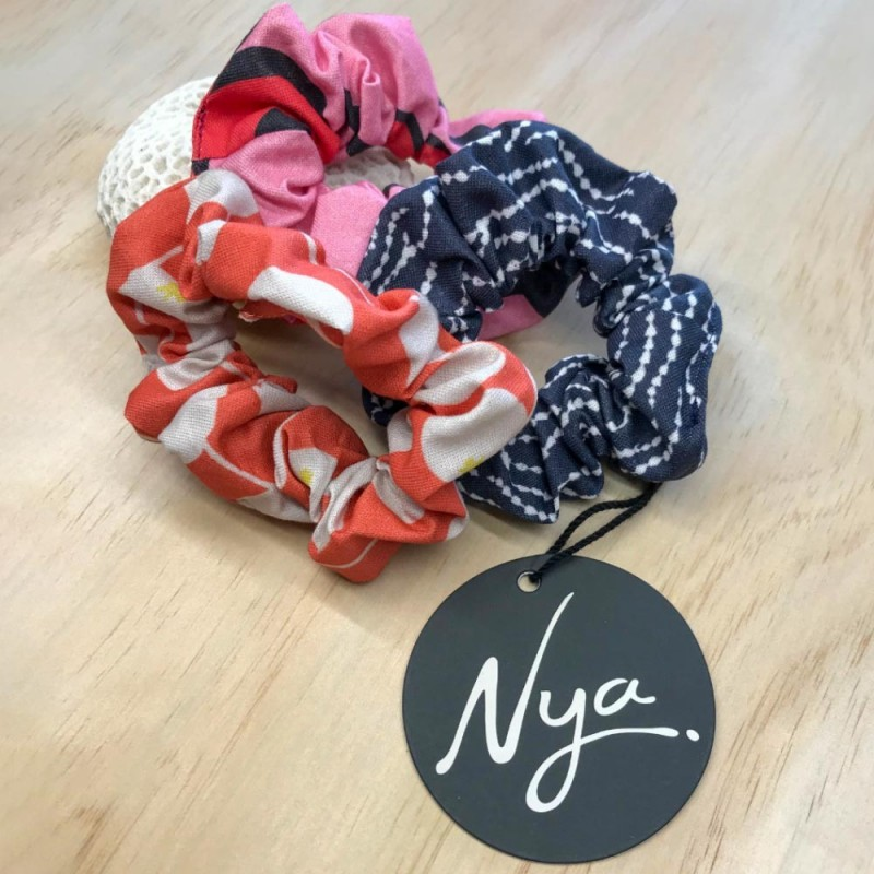 Nya Scrunchie 3 Pack - Pink, Paprika, Ombre Blue