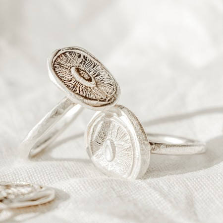 Ochre Silver Signature Ring