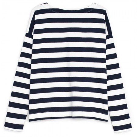 Kowtow Organic Cotton Breton Sweater - Navy Stripe