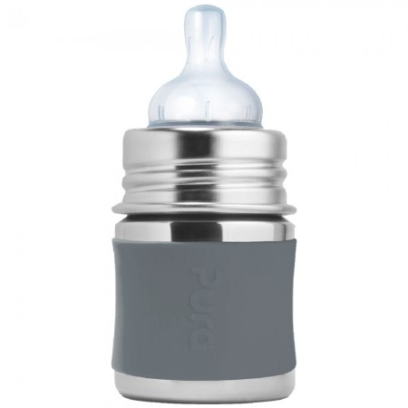 Pura Kiki Stainless Steel Infant Bottle 150ml - Slate
