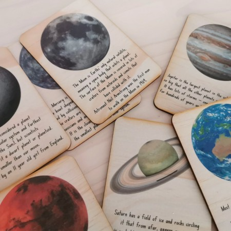 5 Little Bears Information Cards - Outer Space