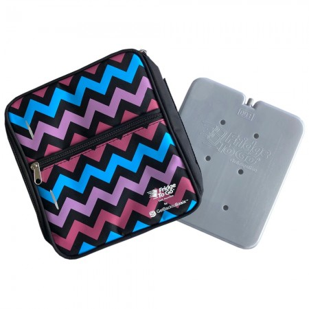 Fridge to Go Insulated Lunch Box Medium - Chevron