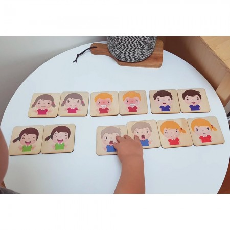 5 Little Bears Memory Game - Emotions