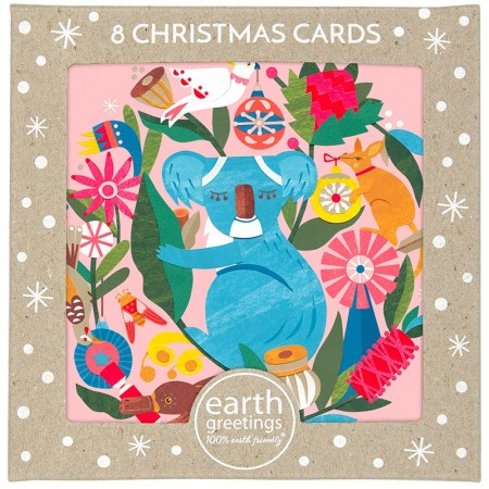 Earth Greetings Square Boxed Christmas Card 8pk - Circle of Friends
