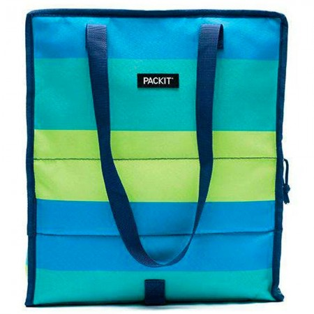 Packit Freezable Grocery Tote Bag - Fresh Stripe