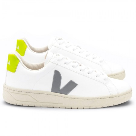 VEJA URCA CWL Sneakers - White Oxford Grey Jaune Fluo LIMITED EDITION