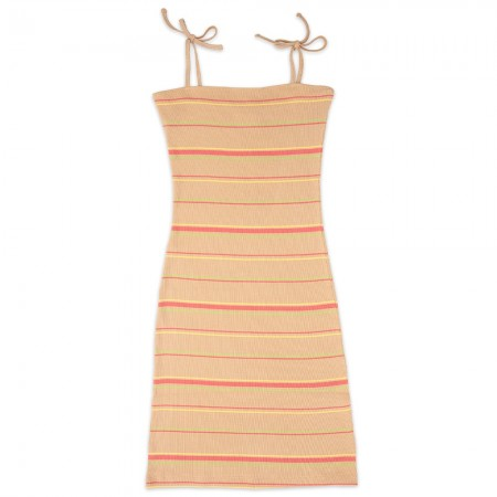 NICO Petra Ribbed Dress - Warm Sand Stripe