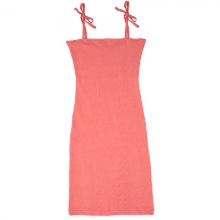NICO Petra Ribbed Dress - Coral Pink