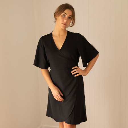 Tasi Travels Wilder Wrap Dress - Black