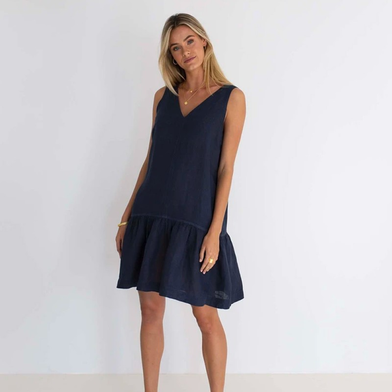 Humidity Ruby Dress - Navy