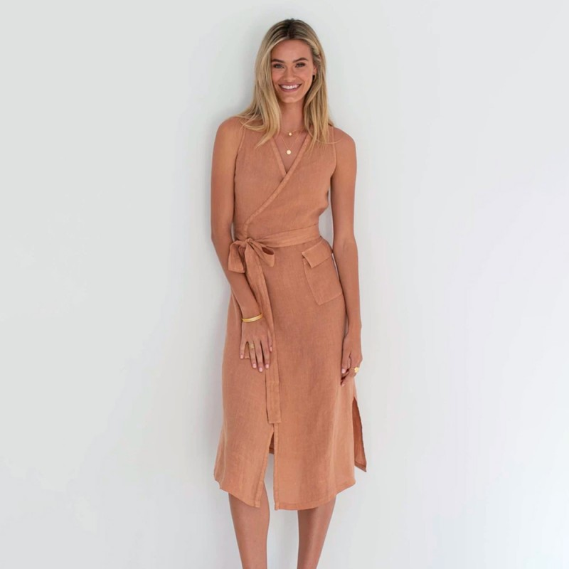 Humidity The Wrap Dress - Spice