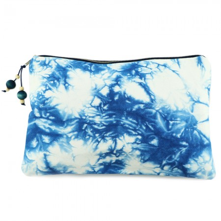 Lava Living Large Flat Clutch - Marbled Shibori