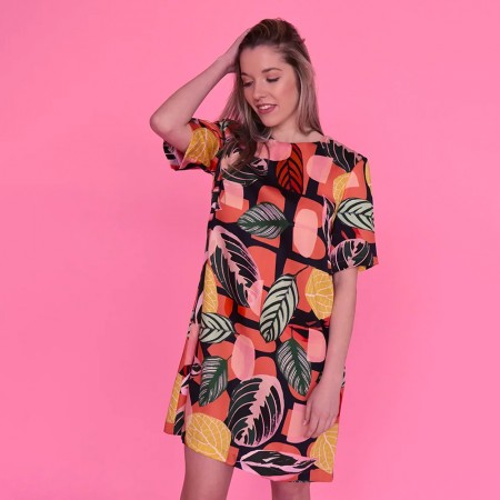 Seagrass Design Inside Shift Dress