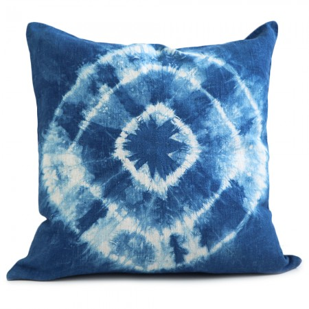 Lava Living Linen Cushion Cover - Kumo Shibori