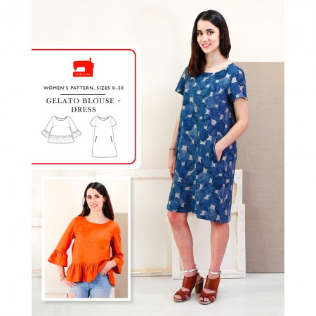 Liesl + Co Sewing Pattern - Gelato Blouse & Dress