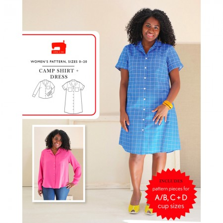Liesl + Co Sewing Pattern - Camp Shirt & Dress