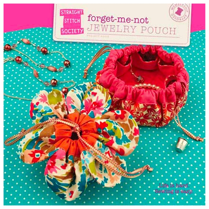 Straight Stitch Society Sewing Pattern - Forget-Me-Not Jewellery Pouch
