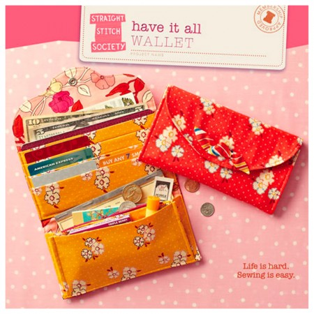Straight Stitch Society Sewing Pattern - Have it All Wallet
