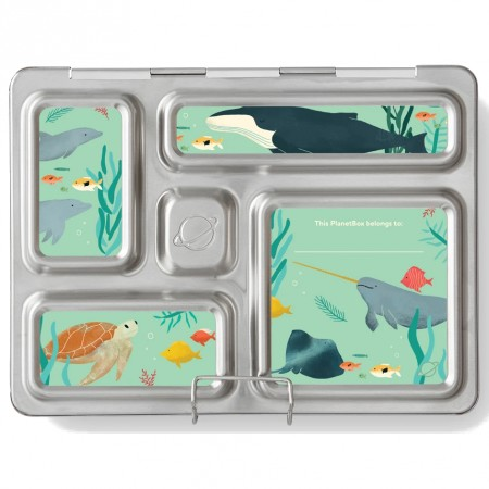 PlanetBox Rover Kit SEA LIFE NEW (Box, Containers, Magnets)