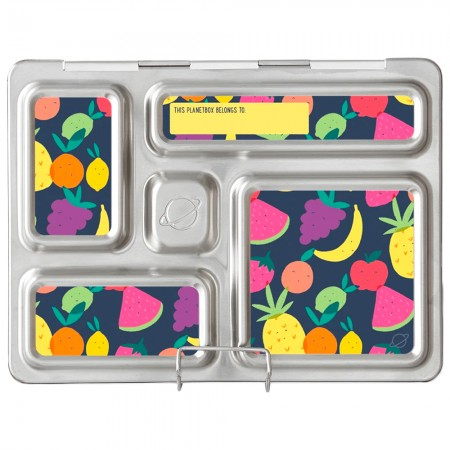 PlanetBox Rover Kit TUTTI FRUTTI (Box, Containers, Magnets)
