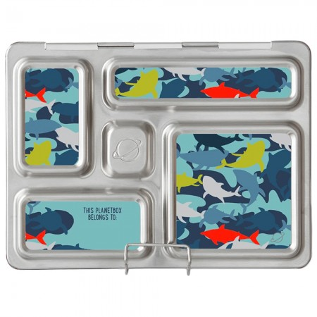 PlanetBox Rover Kit CAMO SHARKS (Box, Containers, Magnets)
