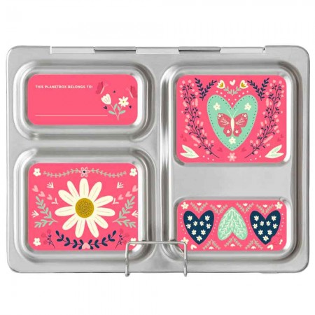 Planetbox Launch Kit FLORAL HEART (Box, Dipper, Magnets)
