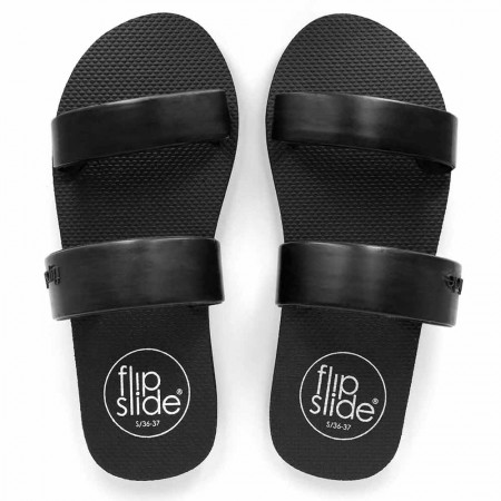 Flipslide Natural Rubber Slides - Black