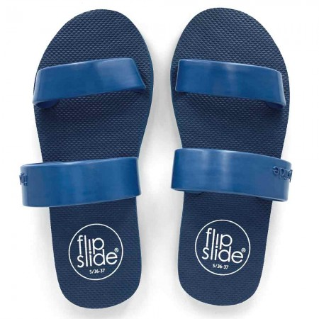 Flipslide Natural Rubber Slides - Denim Blue
