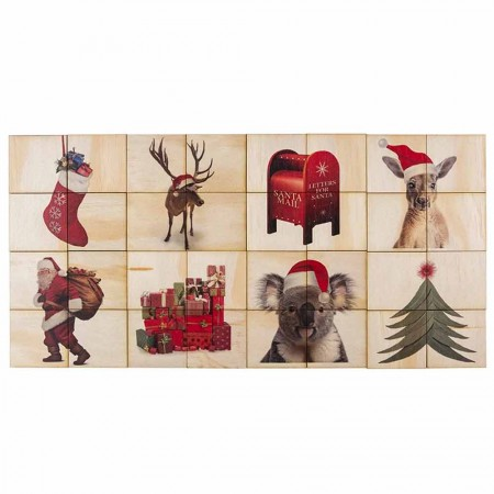 5 Little Bears Themed Puzzle 32pce (in Box) - Christmas