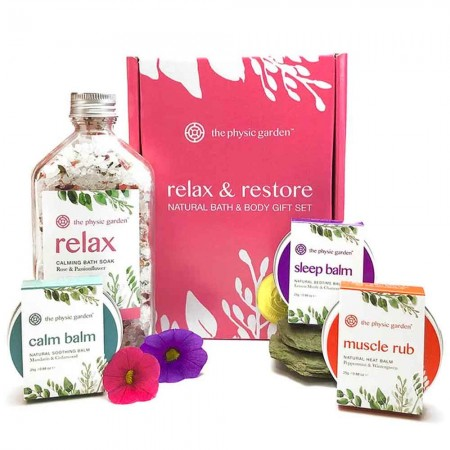 The Physic Garden Relax & Restore Natural Bath & Body Gift Set