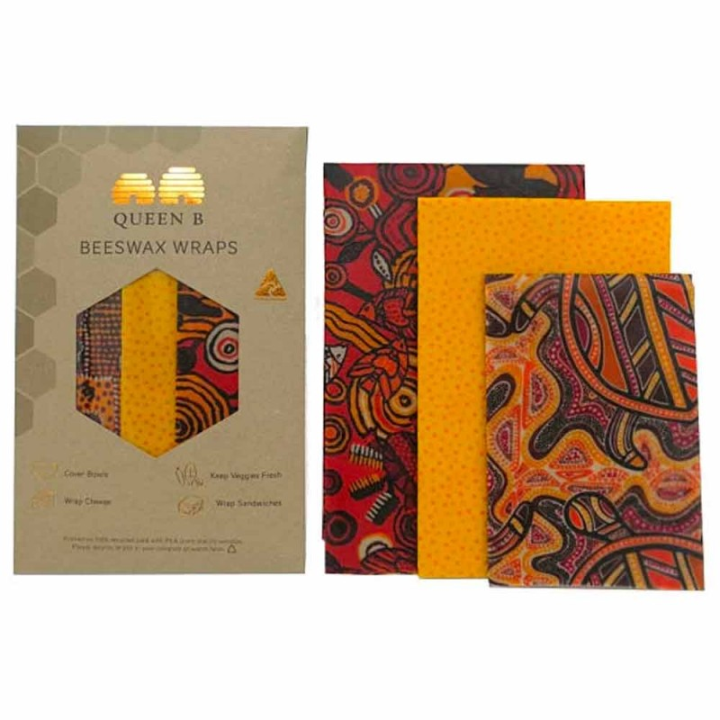 Queen B Beeswax Assorted Wraps (3pk) - Dreamtime