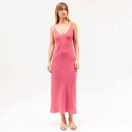 Dominique Healy Classics Midi Dress - Dark Rose