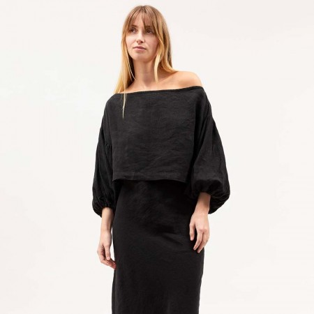 Dominique Healy Stanley Crop - Black