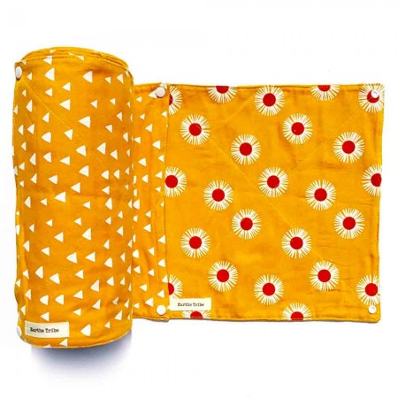 Earths Tribe Unpaper Towels Roll of 20 - Yellow