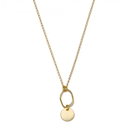 RBCCA KSTR Organic Disc Necklace - Gold