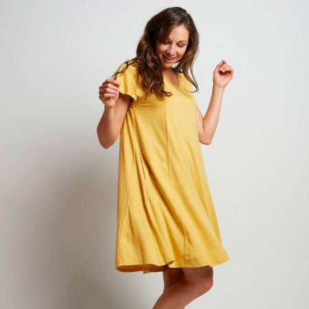 Torju Panel Jersey Dress - Chartreuse