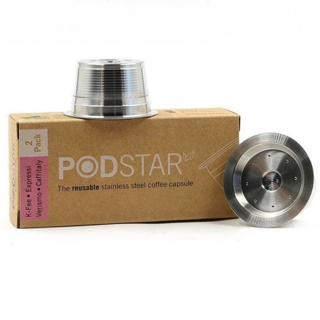 Pod Star Reusable Stainless Steel Coffee Capsule (2pk) - Aldi Expressi/Caffitaly