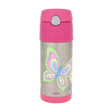 Thermos FUNtainer Insulated Stainless Steel Bottle 355ml - Butterfly
