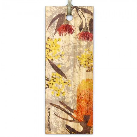 Buttonworks Bookmark - Coloured Wildflower