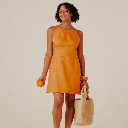 Form By T Ella Dress - Tangerine