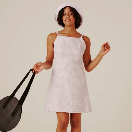 Form By T Ella Dress - Lilac Gingham