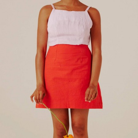Form By T Shenae Mini Skirt - Cherry