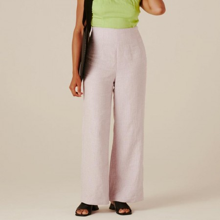Form By T Aspen Pants - Lilac Gingham