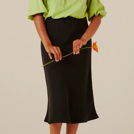 Form By T Peggy Bias Skirt - Black