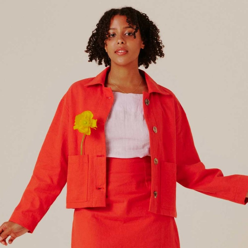 Form By T Willa Jacket - Cherry