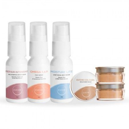 Evohe Makeup & Skincare Trial Pack - Light/Medium